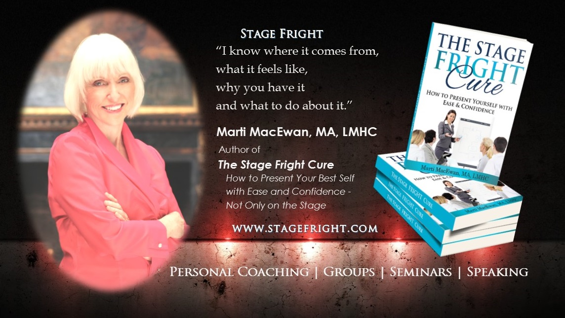 Find out about Marti and The Stage Fright Cure