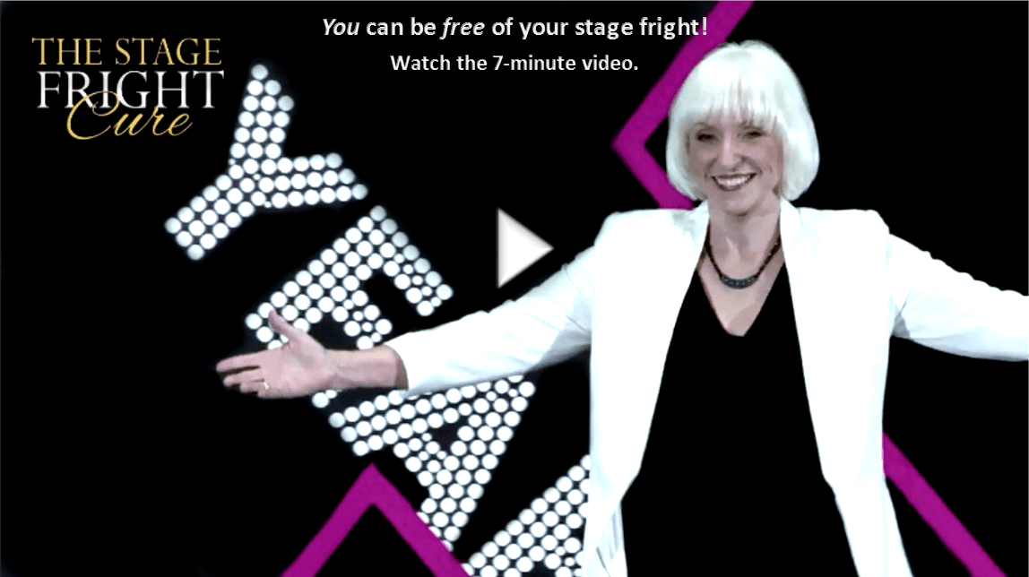 Watch Marti MacEwan's 7-minute Stage Fright Cure Introductory Video